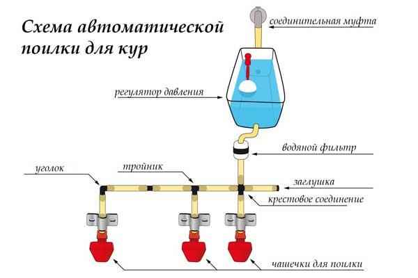 Схема сифонной поилки