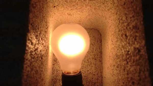 Лампа в блоке